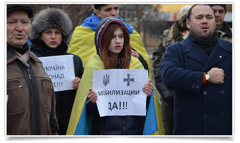 В Краматорске пикетируют военкомат противники мобилизации (фото) - фото 2