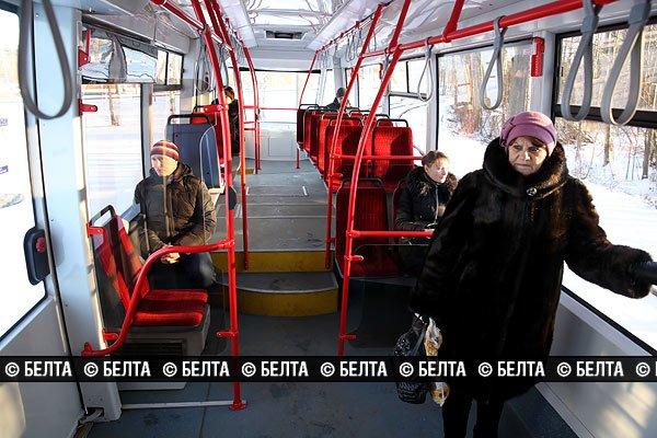 Экспериментальный суперсовременный трамвай вышел на линию в Новополоцке, фото-4