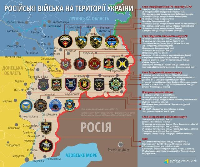 Опубликован список российских военных частей, воюющих на Донбассе (Инфографика) (<a href='/photos ' title='фото' alt='фото'>фото</a>) - фото 1
