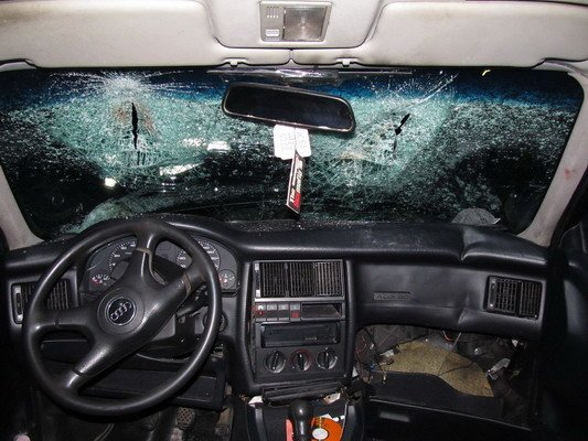 В Островецком районе при столкновении с «Фольксвагеном»  непристегнутый водитель и пассажир лбами разбили стекло (Фото), фото-5