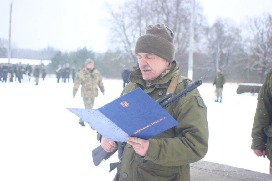 Перше випробування: на Львівщині бійці, які складали присягу, вистояли 5 годин на морозі  (ФОТОРЕПОРТАЖ), фото-2