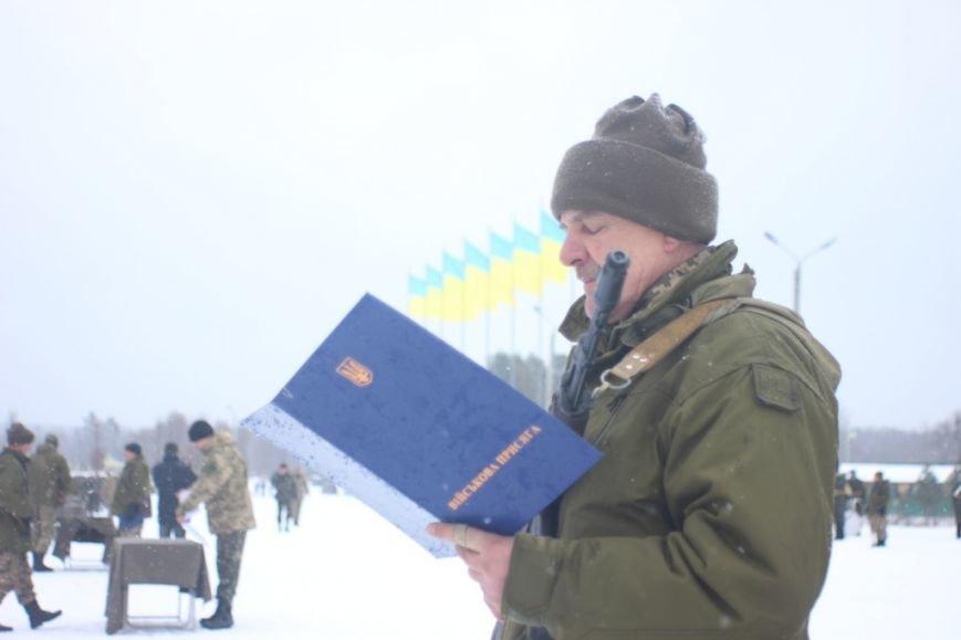 Перше випробування: на Львівщині бійці, які складали присягу, вистояли 5 годин на морозі  (ФОТОРЕПОРТАЖ), фото-3