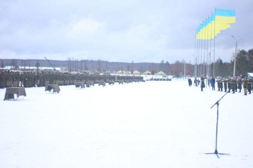 Перше випробування: на Львівщині бійці, які складали присягу, вистояли 5 годин на морозі  (ФОТОРЕПОРТАЖ), фото-5