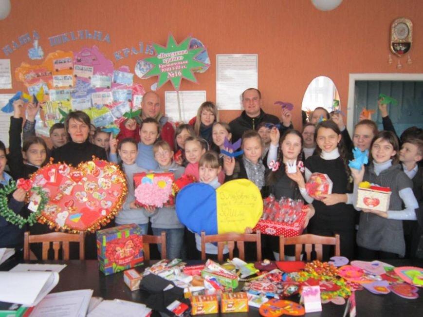 Кременчугские школьники сделали для украинских воинов валентинки для поднятия боевого духа (ФОТО), фото-5