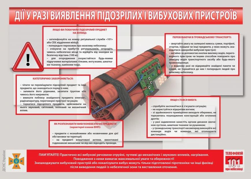 Дії у разі виявлення підозрілих і вибухових пристроїв(1)