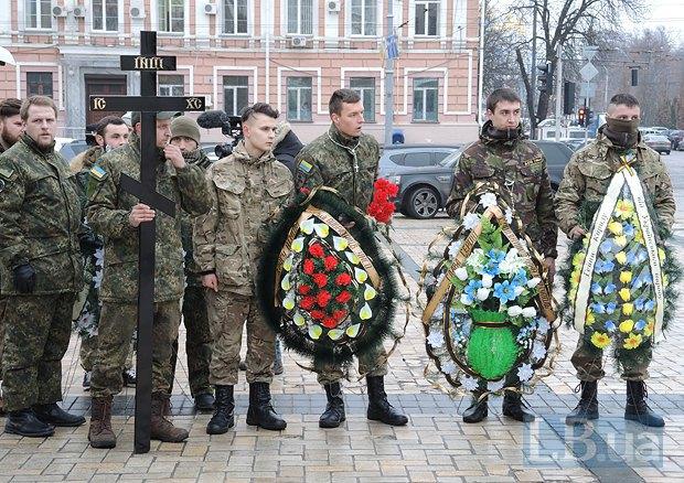 В Киеве простились с погибшим под Мариуполем бойцом «Святой Марии» (ФОТО) (фото) - фото 1