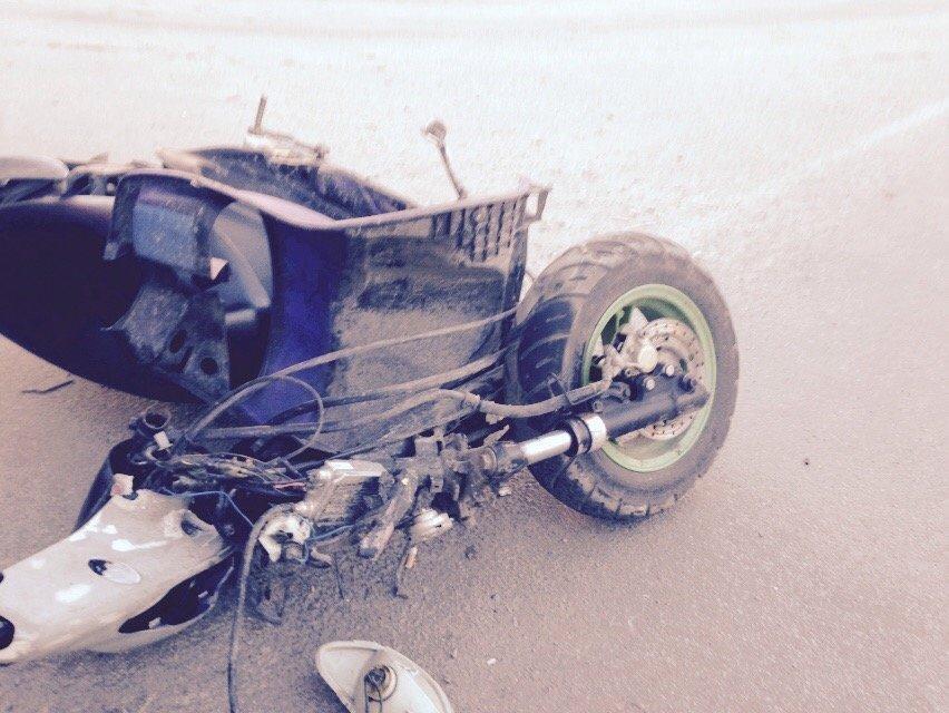 На улице Янгеля в Днепропетровске грузовик сбил мопедиста (ФОТО), фото-3