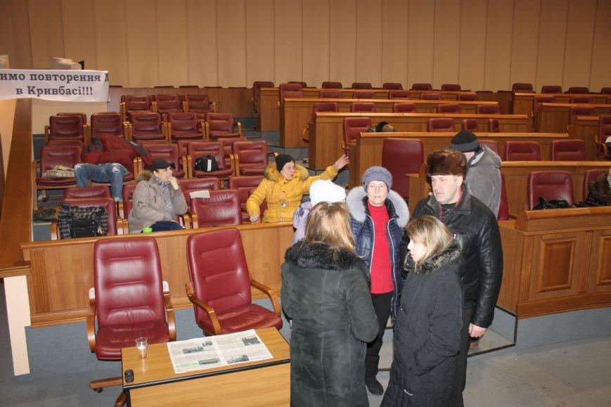 В сессионном зале Криворожского горисполкома продолжается акция протеста  (ФОТО), фото-2