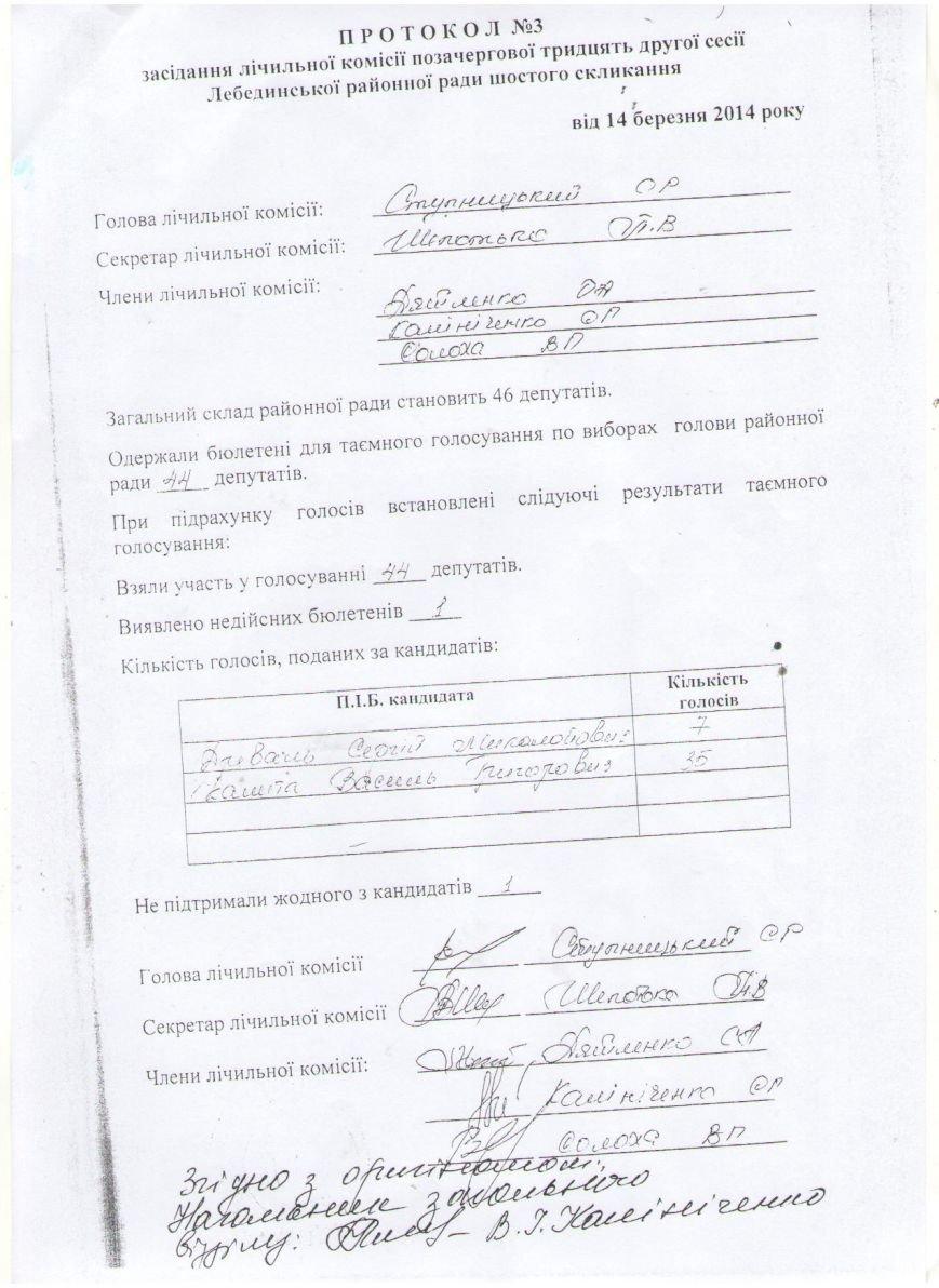 Громада Лебединщини не задоволена новопризначенням Миколи Клочка (СКАН) (фото) - фото 1