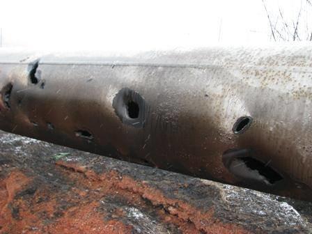 Что осталось от газовой трубы, обстрелянной под Донецком (ФОТО), фото-1