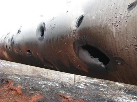 Что осталось от газовой трубы, обстрелянной под Донецком (ФОТО), фото-3