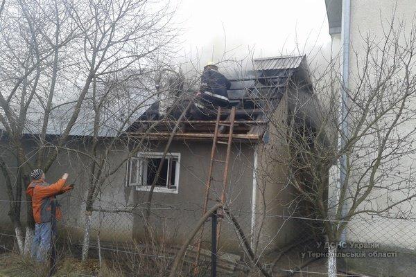 Люди всім селом допомогали рятувальникам гасити пожежу на Тернопыльщині (фото) (фото) - фото 1