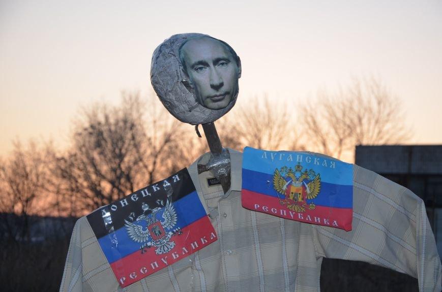 В Мариуполе сожгли Путина (ФОТОФАКТ), фото-1