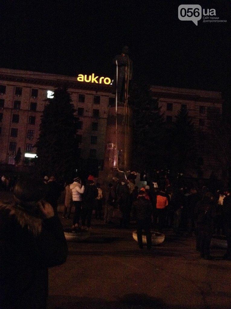 Падение «вождя» в Днепропетровске: как это было год назад (ФОТО) (фото) - фото 1