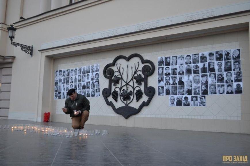 В Ужгороді вшанували героїв Небесної Сотні (ФОТОРЕПОРТАЖ) (фото) - фото 11