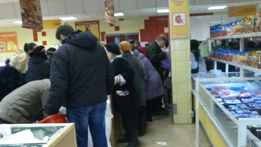 Днепродзержинцы массово скупают продукты питания, фото-2