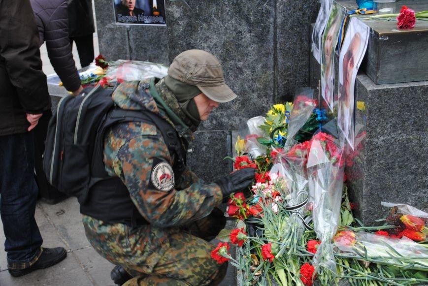 Около памятника Шевченко харьковчане почтили память Бориса Немцова и прошел молебен (ФОТО+ВИДЕО), фото-22