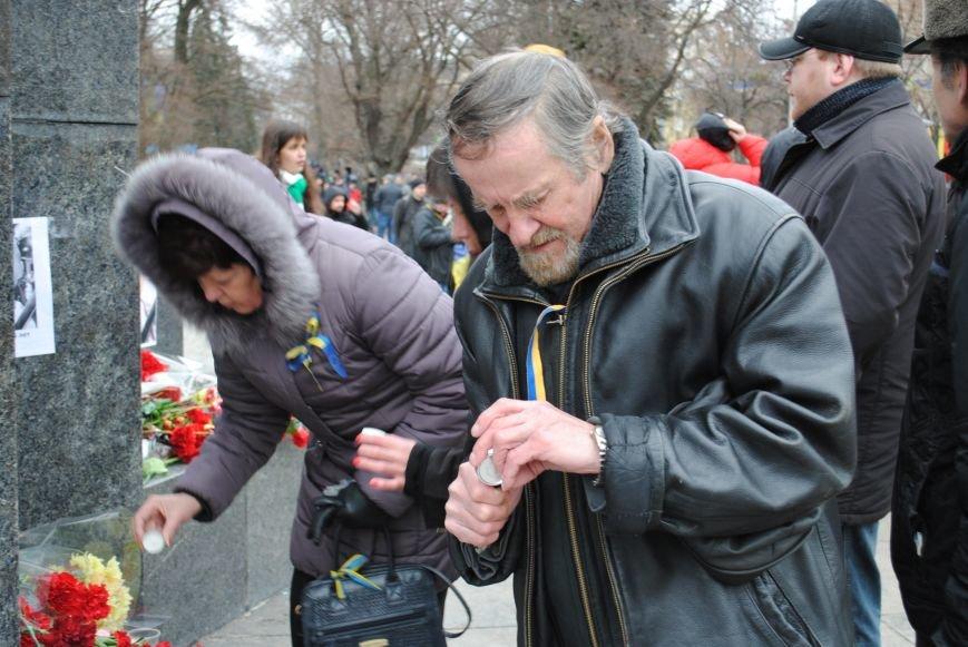 Около памятника Шевченко харьковчане почтили память Бориса Немцова и прошел молебен (ФОТО+ВИДЕО), фото-18