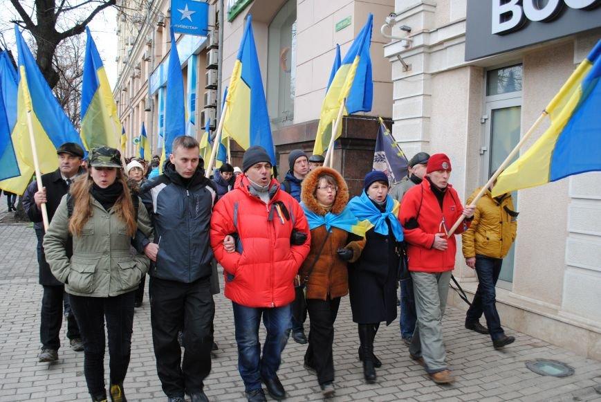 Около памятника Шевченко харьковчане почтили память Бориса Немцова и прошел молебен (ФОТО+ВИДЕО), фото-1