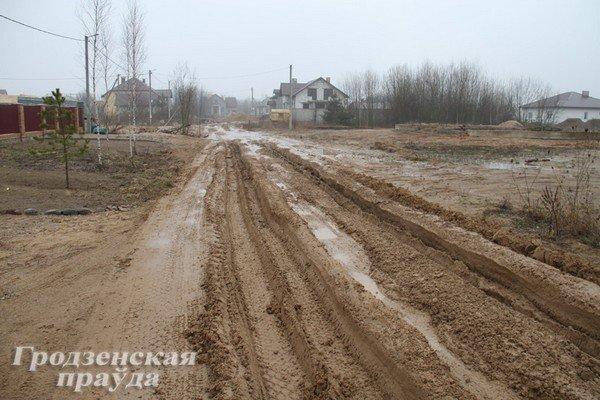 В гродненском частном секторе дороги превратились в болото (Фото) (фото) - фото 4