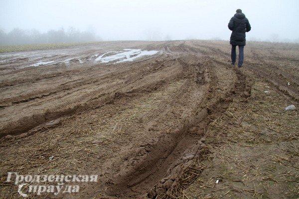 В гродненском частном секторе дороги превратились в болото (Фото) (фото) - фото 1