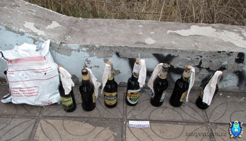 В мариупольском парке обнаружены коктейли Молотова (ФОТО), фото-3