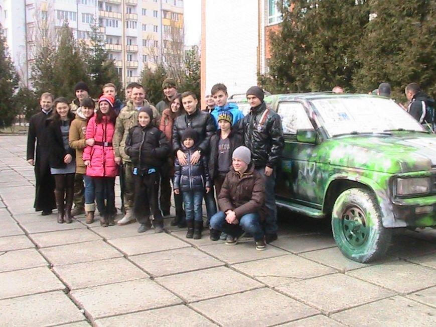 На Львівщині діти подарували десантникам автомобіль на прізвисько «Котигорошко», фото-5