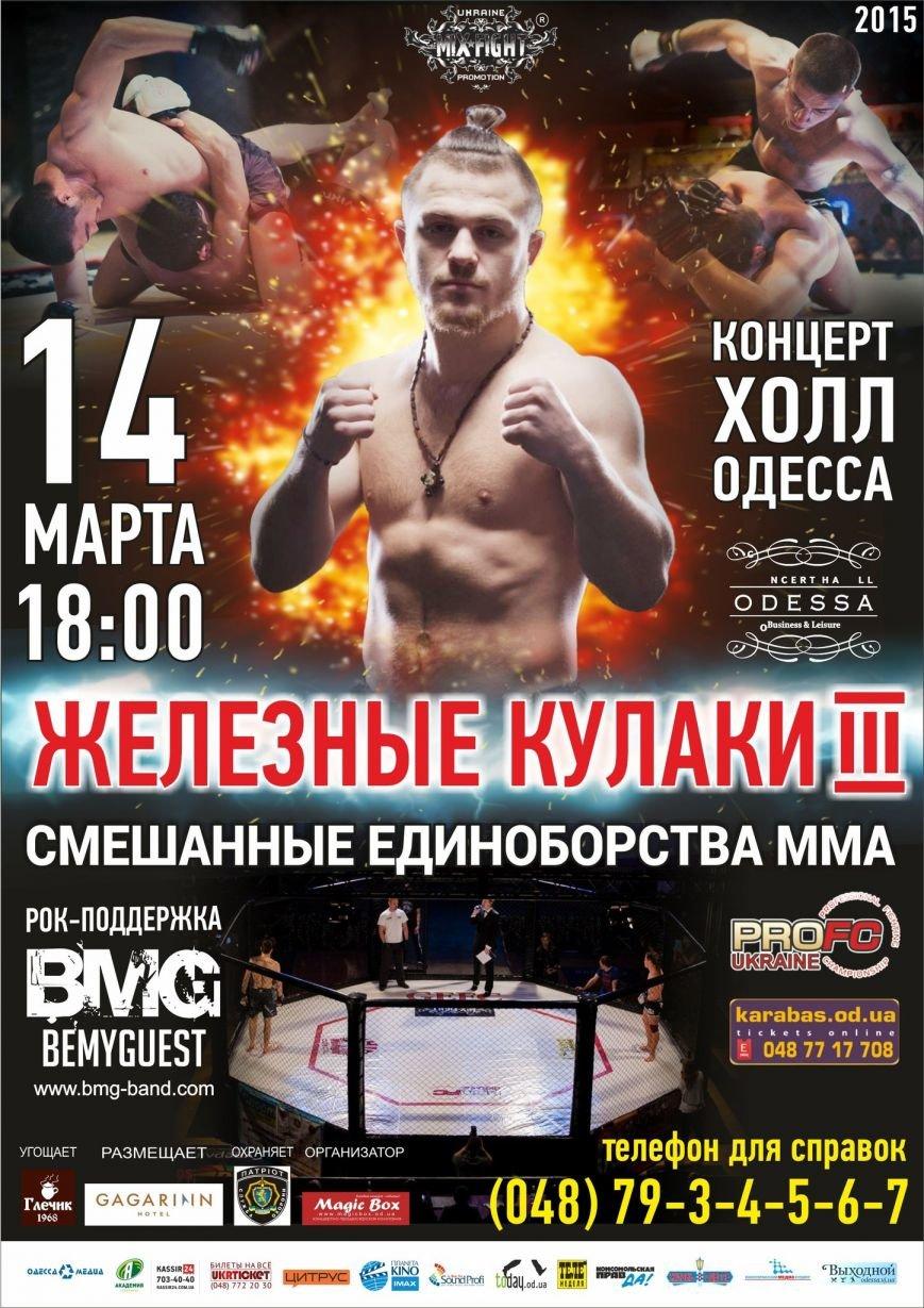 Международный турнир по смешанным единоборствам «Железные Кулаки-3» в Одессе (фото) - фото 1