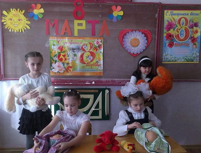 Енакиевские школьники поздравили мам и бабушек, фото-6