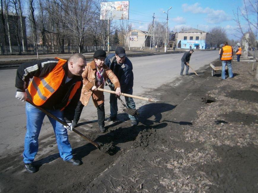 Димитровские предприятия начали весеннюю уборку закрепленных территорий (фото) - фото 6