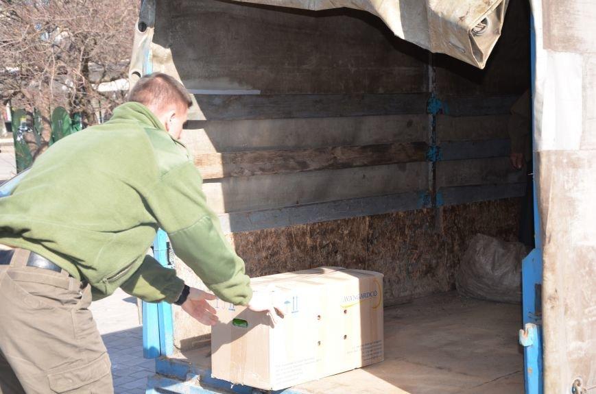 Жителям прифронтовых Чермалыка и Лебединское вблизи Мариуполя доставили гуманитарную помощь (ФОТО), фото-11