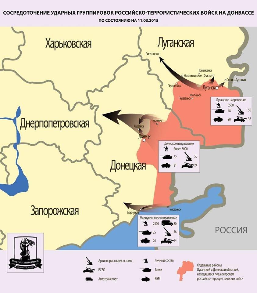 Ударные группировки войск оккупантов Донбасса (СХЕМА), фото-1