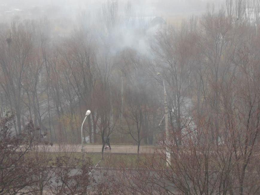 В парке имени Гурово горят листья (ФОТО) (фото) - фото 1