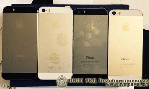 В Гомеле 22-летний россиянин торговал поддельными iPhone 5s (фото) - фото 1