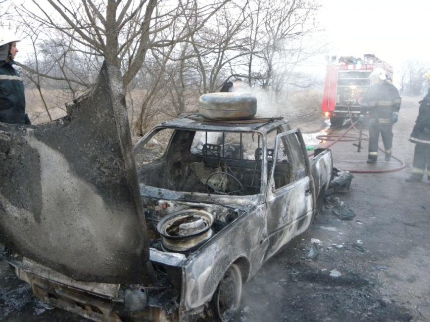 Под Черниговом полностью сгорел автомобиль (фото) - фото 1