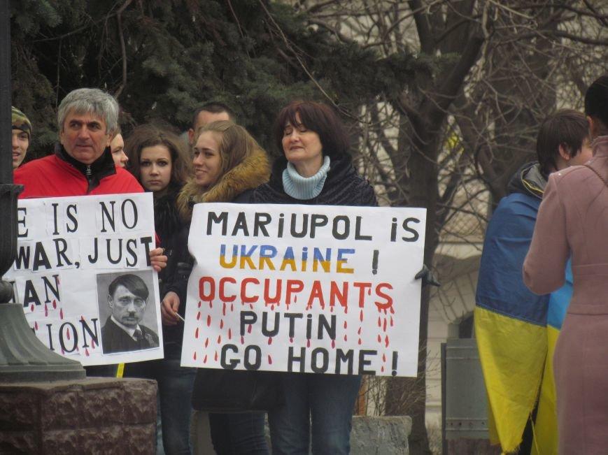 Мариупольцы стали живой цепью вокруг Драмтеатра ради мира в Украине (ФОТО+ВИДЕО), фото-14