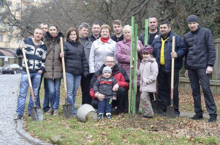 Ужгородські єдиноцентристи посадили 50 сакур – довкола УжНУ і на вулицях міста (ФОТО, ВІДЕО), фото-10