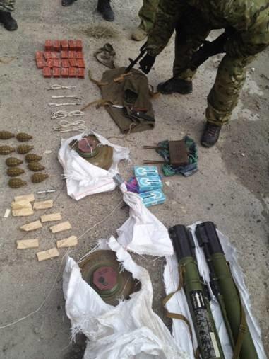 В Часов Яре сотрудники СБУ выявили тайник диверсантов с оружием и взрывчаткой, фото-1