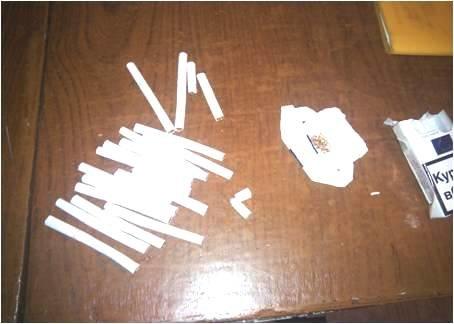 Заключённому Кременчугской колонии №69 пытались передать сигареты с «сюрпризом» (ФОТО) (фото) - фото 1