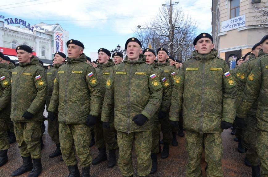 По центру Симферополя под звуки оркестра промаршировали военные (ФОТО, ВИДЕО), фото-5