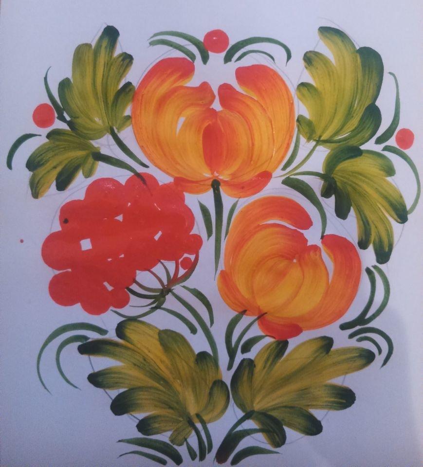 Мастер-класс по Петриковской росписи (фото) - фото 6