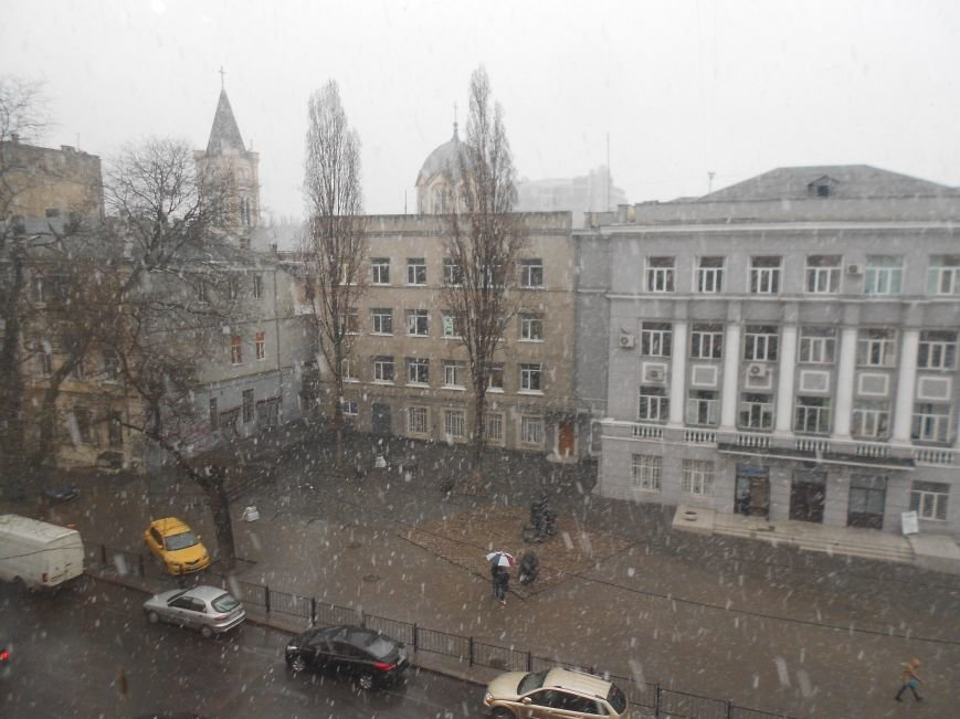 Центр Одессы засыпает снегом (ФОТО) (фото) - фото 1