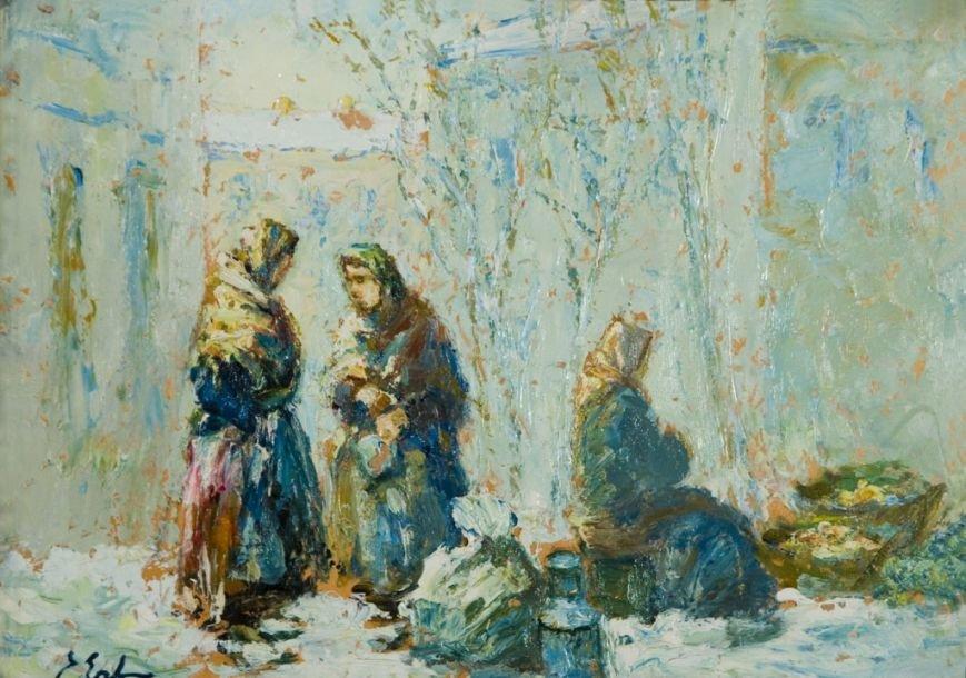 Зимовий день 1930-ті 25х35 поч. ХХ картон, олія