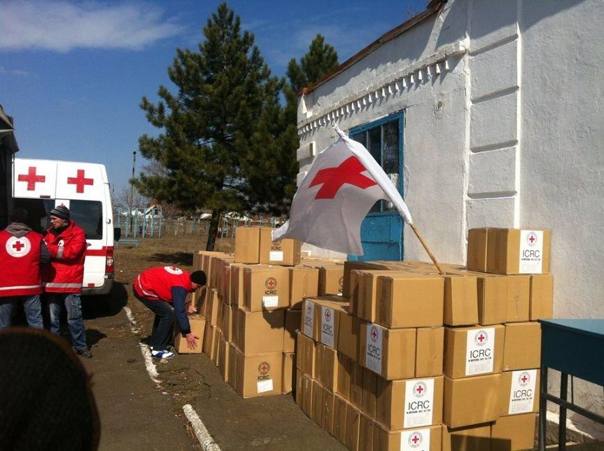 Сартанцы, пострадавшие при обстрелах, получили продукты от  Международного Красного Креста, фото-1