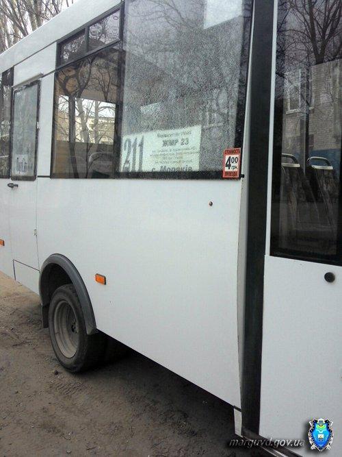 В Мариуполе неизвестные обстреляли маршрутку (ФОТО), фото-2
