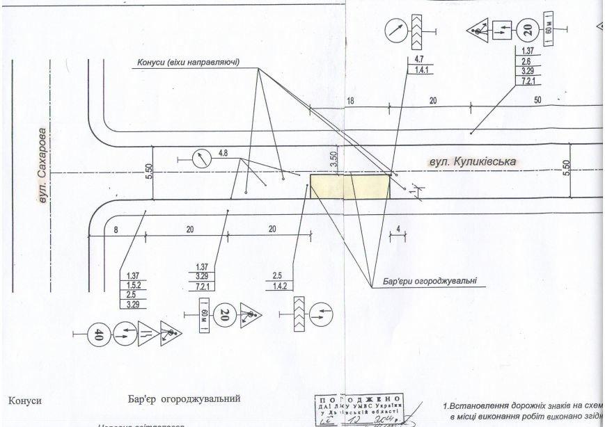 схема обм.руху по Куликівській