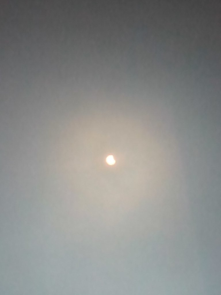 В Кривом Роге тучи разошлись и жители города увидели солнечное затмение (ФОТО) (фото) - фото 1