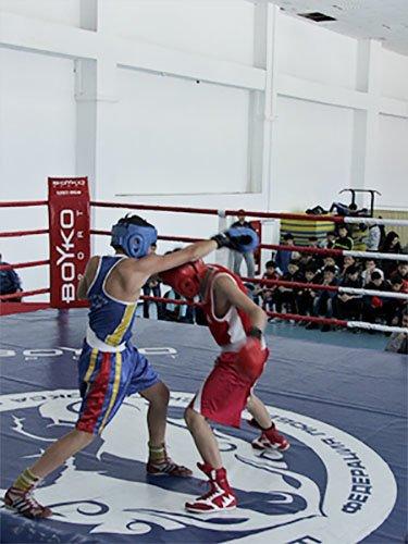 Соревнования по боксу среди юношей в Усть-Каменогорске