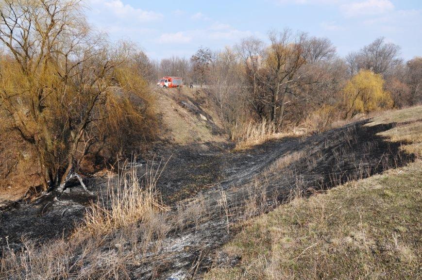 Пожарные в Юбилейном: обширное возгорание сухой травы и листьев (ФОТО и ВИДЕО), фото-13
