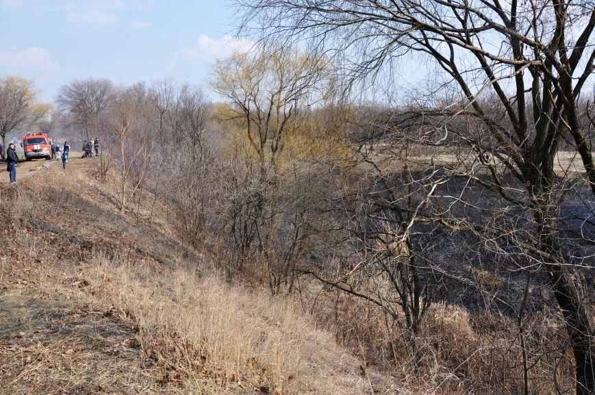 Пожарные в Юбилейном: обширное возгорание сухой травы и листьев (ФОТО и ВИДЕО), фото-2